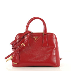 Prada Promenade Bag Vernice Saffiano Leather Small Red 42196106