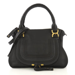 Chloe Marcie Satchel Leather Medium Black 42196109