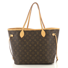 Louis Vuitton Neverfull Tote Monogram Canvas MM Brown 42196116