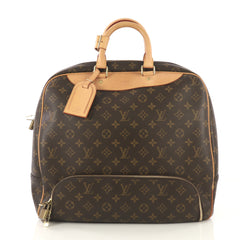 Louis Vuitton Evasion Travel Bag Monogram Canvas MM Brown 42196124