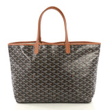 Goyard St. Louis Tote Coated Canvas PM Black 42196125
