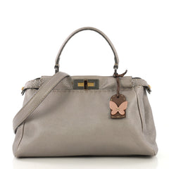 Fendi Selleria Peekaboo Bag Leather Regular Neutral 4219613
