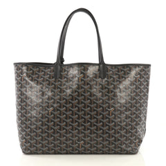 Goyard St. Louis Tote Coated Canvas PM Black 42196140