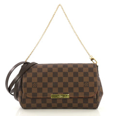Louis Vuitton Favorite Handbag Damier MM Brown 42196145