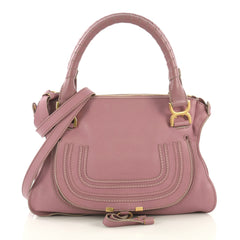 Chloe Marcie Satchel Leather Medium Purple 4219618