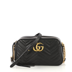 Gucci GG Marmont Shoulder Bag Matelasse Leather Small Black 4219629