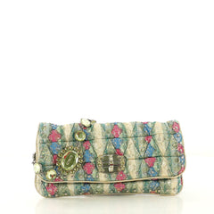 Miu Miu Crystal Clutch Embellished Jacquard Medium Green 4219635