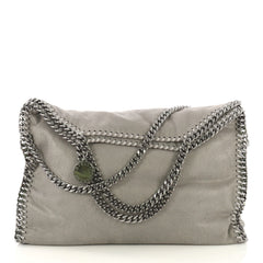 Stella McCartney Falabella Fold Over Bag Shaggy Deer Gray 421963