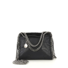 Stella McCartney Falabella Fold Over Crossbody Bag Shaggy 421964