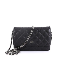 Chanel Wallet on Chain Quilted Caviar Black 421967