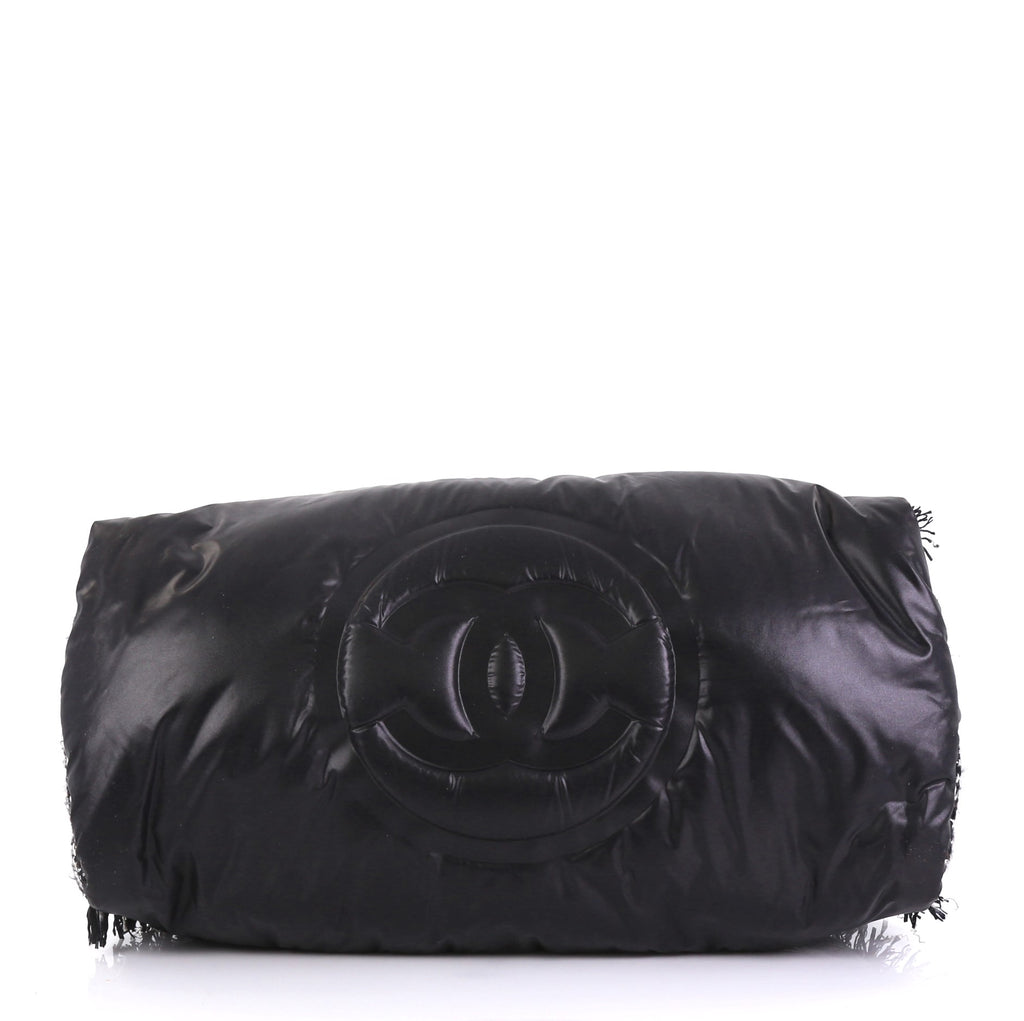 b5298cad3ac7 Chanel Doudoune Bowling Bag Embossed Nylon with Tweed Large 4219682 ...