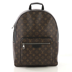 Louis Vuitton Josh Backpack Macassar Monogram Canvas Brown 421971