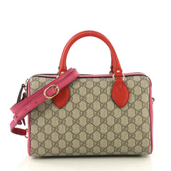 Gucci Convertible Boston Bag GG Coated Canvas and Leather 422091