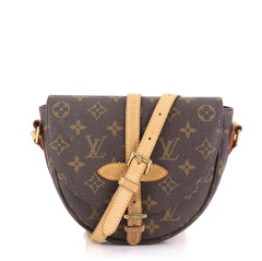 Louis Vuitton Chantilly NM Handbag Monogram Canvas PM Brown 422101