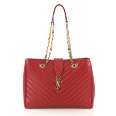 Saint Laurent Classic Monogram Shopper Matelasse Chevron 4221202
