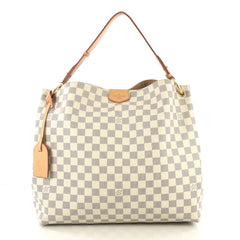 Louis Vuitton Graceful Handbag Damier MM Neutral 422281