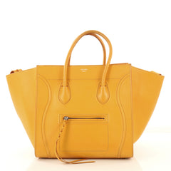 Celine Phantom Bag Grainy Leather Medium Yellow 422351