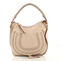 Chloe Marcie Hobo Leather Medium Pink 4224014
