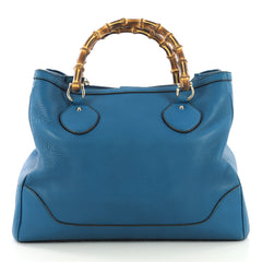27fb43bec88 Gucci Diana Bamboo Top Handle Tote Leather Medium Blue 4224019