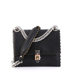 Fendi Kan I Bag Leather Small Black 4224025