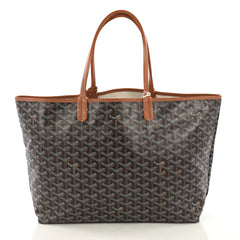 Goyard St. Louis Tote Coated Canvas PM Black 422408