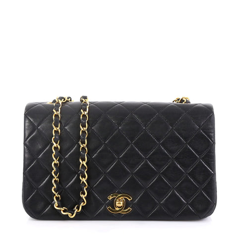 2e460ffb55fdb8 Chanel Vintage 3 Way Full Flap Bag Quilted Lambskin Small 4225118 – Rebag