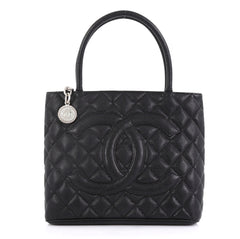 Chanel Model: Medallion Tote Quilted Caviar Black 42251/19