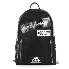 Dolce & Gabbana Patches Backpack Nylon with Applique