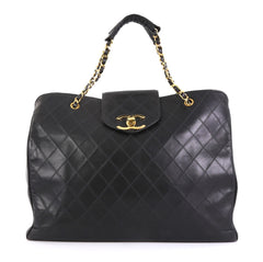 7e81812bb3a3 Chanel Vintage Supermodel Weekender Bag Quilted Leather Large
