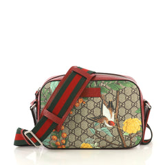 Gucci Camera Shoulder Bag Tian Print GG Coated Canvas Medium