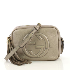 Gucci Soho Disco Crossbody Bag Leather Small Gold 4225911
