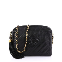 e26ef0a9bfb7 Chanel Vintage Diamond CC Camera Bag Quilted Leather Small 4225922