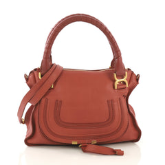 Chloe Marcie Satchel Leather Medium Pink 422592