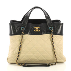 7425e30876d0 Chanel In The Mix Shopping Bag Quilted Calfskin Large 4225930
