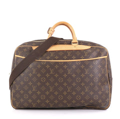 Louis Vuitton Alize Bag Monogram Canvas 24 Heures Brown 422615