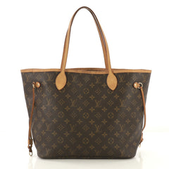 Louis Vuitton Neverfull Tote Monogram Canvas MM Brown 422711