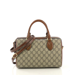 75df39c4ffa2 Gucci Convertible Boston Bag GG Coated Canvas and Leather Small