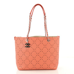 Chanel Shopping Tote Perforated Caviar Small