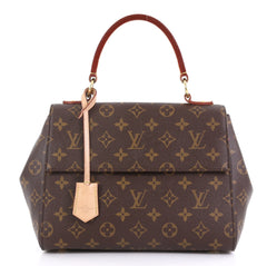 Louis Vuitton Cluny Top Handle Bag Monogram Canvas BB Brown 423001
