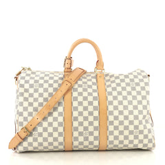 Louis Vuitton Keepall Bandouliere Bag Damier 45 Neutral 423041