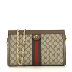 Gucci Ophidia Chain Shoulder Bag GG Coated Canvas Medium 423291
