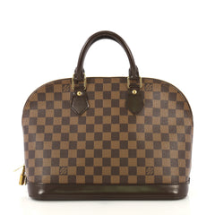 Louis Vuitton Vintage Alma Handbag Damier PM Brown 423331
