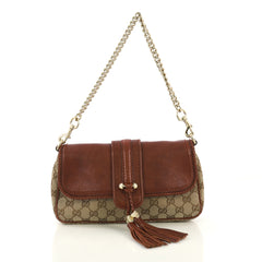 0a5fb0fcc97 Gucci Marrakech Convertible Evening Bag Leather and GG brown 423371