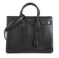 Saint Laurent Sac de Jour Bag Leather Small Black 423381