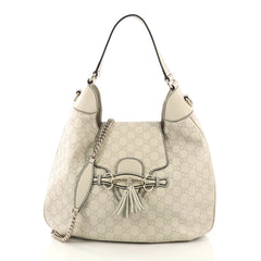 Gucci Emily Hobo Guccissima Leather Medium Neutral 423541