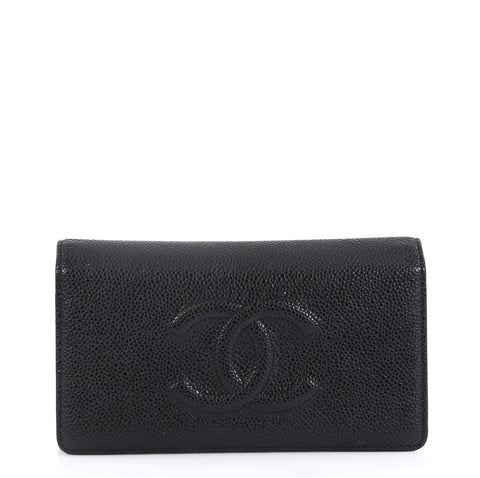 a95e54f4b7f4 Chanel Timeless L-Yen Wallet Caviar Long Black 423561 – Rebag