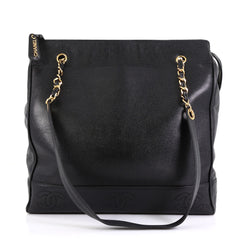 Chanel Model: Vintage Timeless Pocket Chain Shoulder Bag Caviar Large Black 42358/14