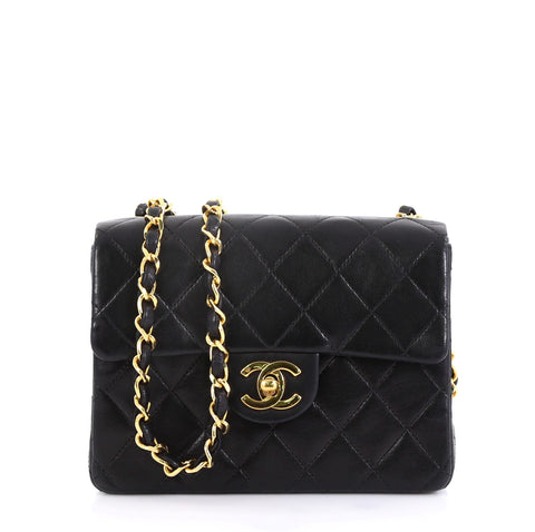 78dc7b30f89b Chanel Vintage Square Classic Single Flap Bag Quilted 4235820 – Rebag