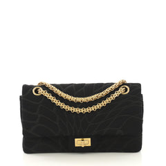 Chanel Model: Reissue 2.55 Flap Bag Embroidered Jersey 225 Black 42358/23
