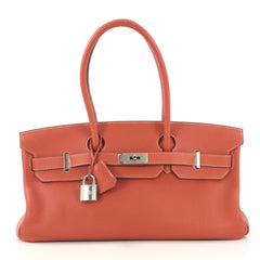 Hermes Birkin JPG Handbag Red Togo with Palladium Hardware 42
